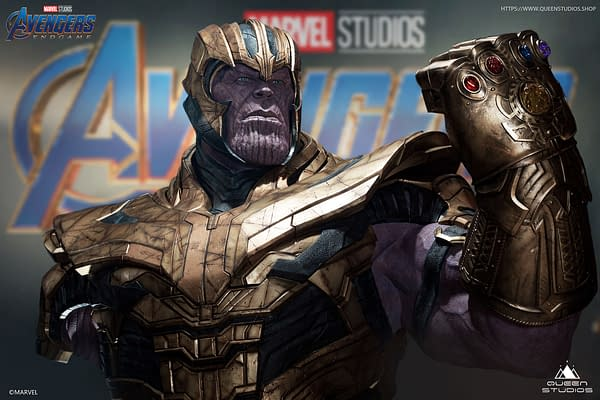 Thanos Arrives With New Life-Size Endgame Statue From Queen Studios