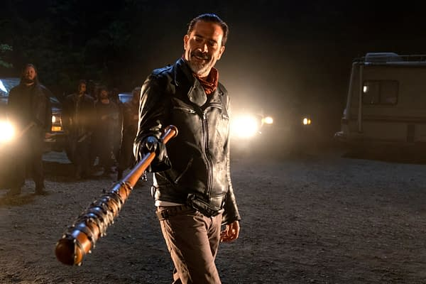 The Walking Dead star Jeffrey Dean Morgan knows what should happen to Trump. (Image: AMC)