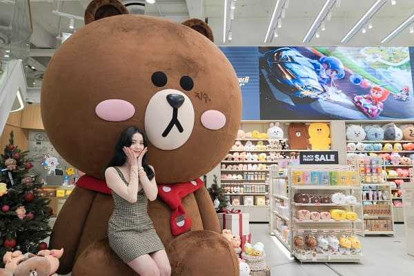 Jisoo at LINE FRIENDS flagship store in Gangnam in South Korea. Photo courtesy of Ketchum.