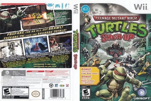 Teenage Mutant Ninja Turtles Smash-Up Wii Cover
