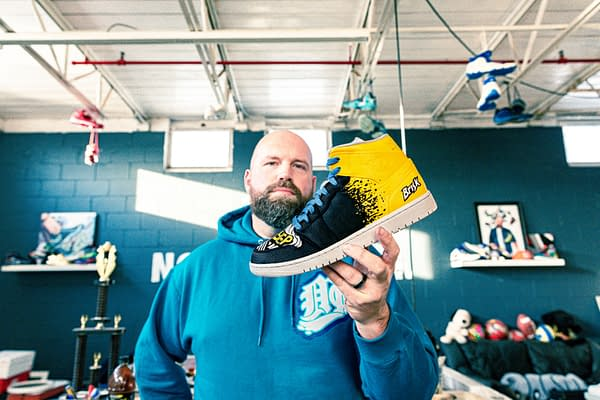 A look at the Brisk Zero Sugar Lemon Iced Tea sneaker by Mache, courtesy of Briskk.