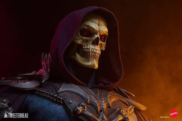 Skeletor Rises as Tweeterhead Reveals Life-Size MOTU Bust