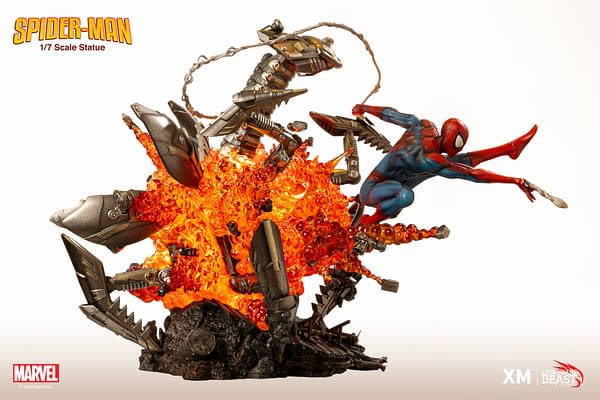The Amazing Spider-Man Gets Explosive New XM Studios Statue