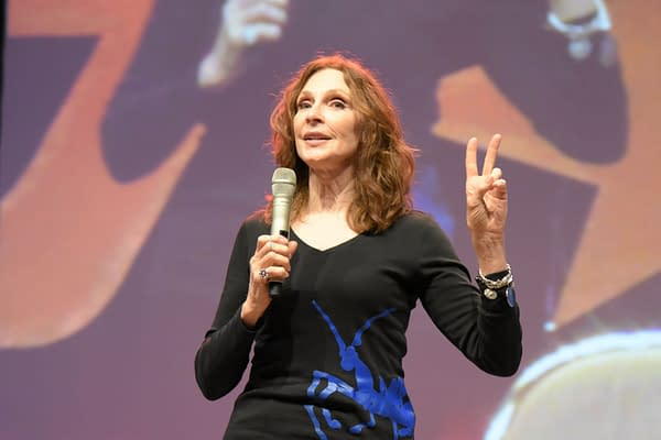 Gates McFadden at FedCon 26. FedCon, Europe's biggest Star Trek Convention, invites celebrities and fans to meet each other in signing sessions and panels. FedCon 26 took place Jun 2-5 2017. (Markus Wissmann / Shutterstock.com)