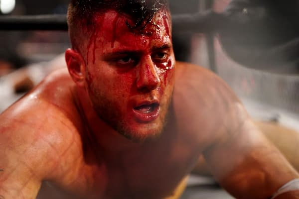 If AEW Dynamite Blood and Guts beat WWE Raw in the ratings, The Chadster would have been so upset he'd throw himself off the top of a ten foot cage into a pile o pillows with silver-painted cardboard on top of them. Luckily for the Chadster, Dynamite did not beat Raw. [Photo: All Elite Wrestling]