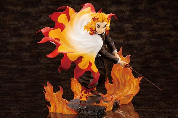 Demon Slayer Kyojuro Rengoku Brings the Heat to Kotobukiya