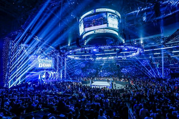 A live WWE Smackdown event from October 2019, back when the arenas were at least half full.