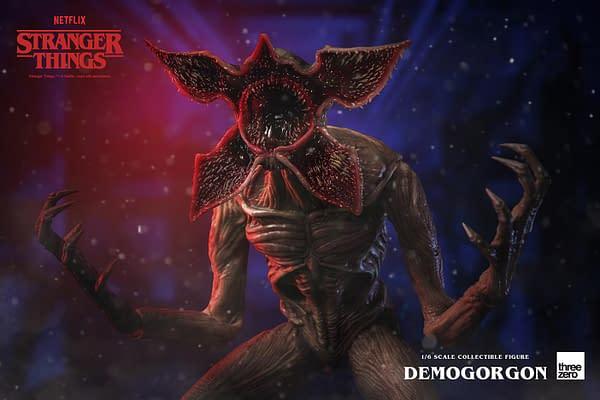 Stranger Things Demogorgon Lurks In The Shadows With threezero