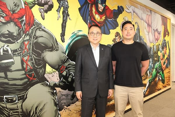 Dark Horse's executive chairman Stanley Cheung (left) and general manager Johnny Lee (right), courtesy of  Dark Horse Comics.