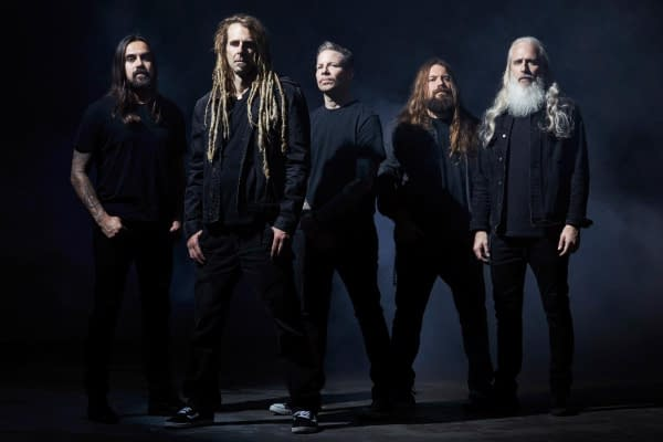A promotional photo of iconic metal band Lamb of God. Photo credit: Travis Shin