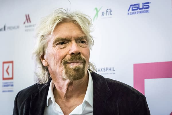 Russia, Moscow, 11.27.2017 An English business magnate, investor and philanthropist, the founder of the company «Virgin Group», Richard Charles Nicholas Branson on Synergy Global Forum in Moscow (Marina-Kruglyakova / Shutterstock.com)