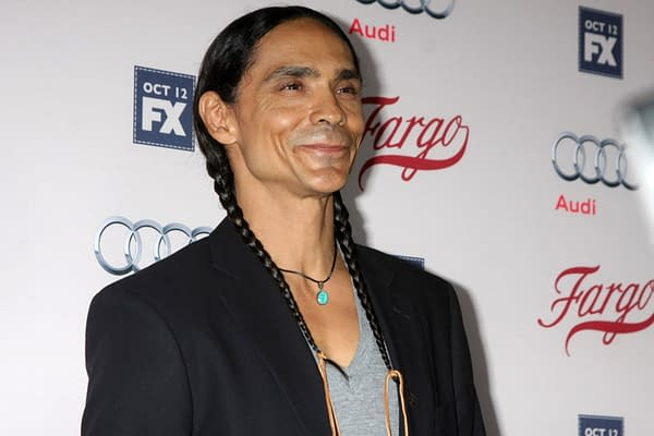 """LOS ANGELES - OCT 7: Zahn McClarnon at the """"Fargo"""" Season 2 Premiere Screening at the ArcLight Hollywood Theaters on October 7, 2015 in Los Angeles, CA (Editorial credit: Kathy Hutchins / Shutterstock.com)"""
