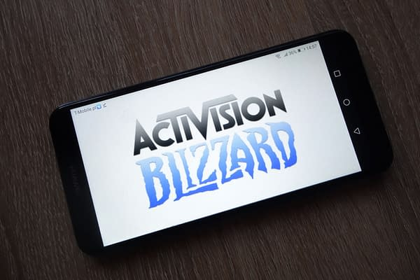 Activision Blizzard Inc. logo displayed on smartphone by Piotr Swat