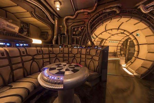 A Smuggler's Eye View of the Millennium Falcon Disneyland Star Wars: Galaxy's Edge Ride