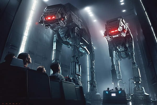 Rise of the Resistance inside Galaxy's Edge.