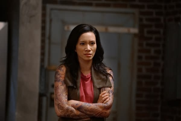 """Black Lightning -- """"The Book of Occupation: Chapter Four"""" -- Image BLK304a_0236b.jpg -- Pictured: Chantal Thuy as Grace Choi -- Photo: Annette Brown/The CW -- © 2019 The CW Network, LLC. All rights reserved."""