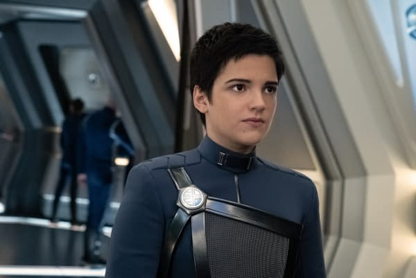 Pictured: Blu del Barrio as Adira of the CBS All Access series STAR TREK: DISCOVERY. Photo Cr: Michael Gibson/CBS ©2020 CBS Interactive, Inc. All Rights Reserved.