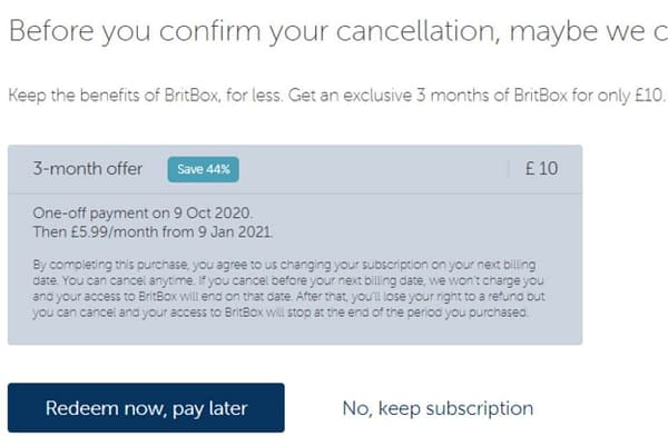 Get BritBox For £10 For Three Months If You Try To Cancel