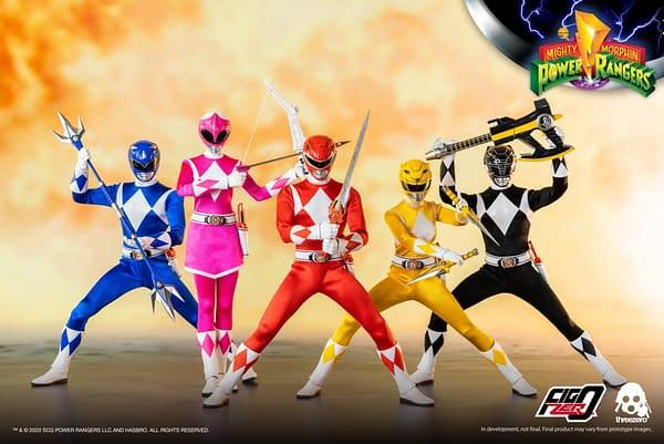 Power Rangers 1/6th Scale Figures Teased by threezero