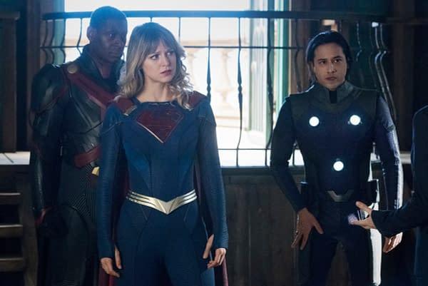Supergirl, Martian Manhunter, and Brainy