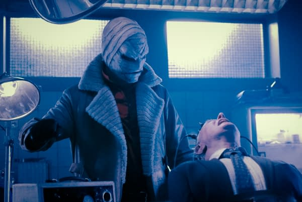 Gabriel Mann as Hush and Linden Banks as Professor Carr in Batwoman, courtesy of The CW.