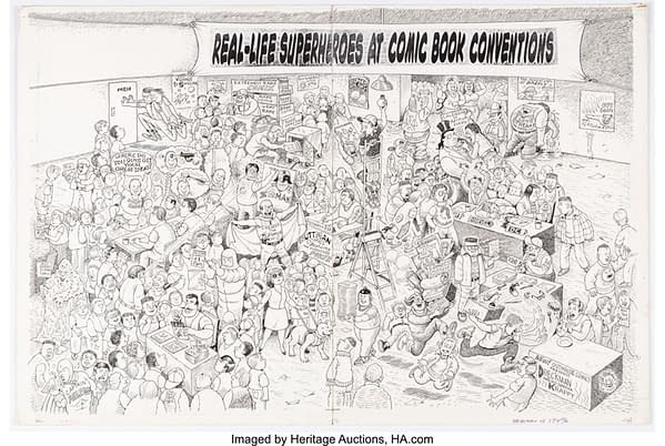 Al Jaffee and his take on Comic Cons for MAD Magazine at auction