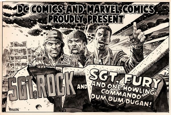 Dan Panosian draws Sgt Rock and Sgt Fury.