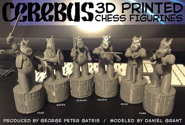 Cerebus Gets a Six-Figure Chess Set