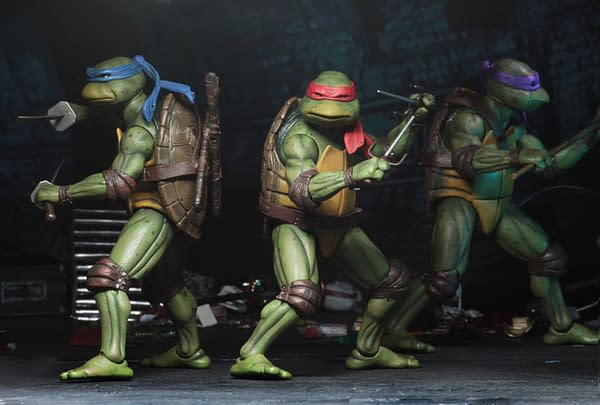 Sdcc 2018 NECA Exclusive TMNT 1990 Figure Set 5