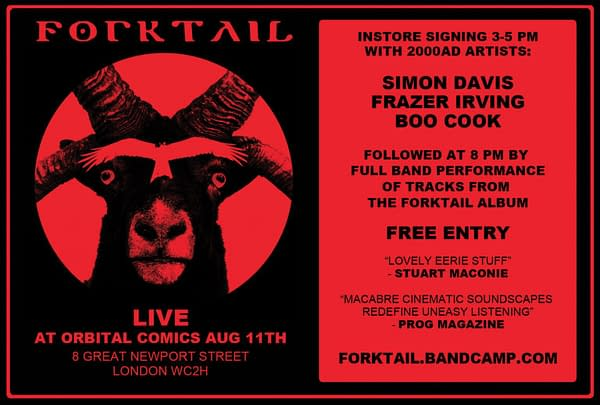 A New 2000AD Comic Creator Band Is Born: Forktail