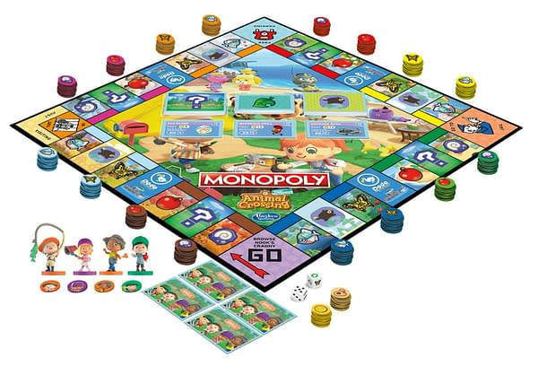 A preview of the game and parts for Monopoly Animal Crossing: New Horizons Edition, courtesy of Hasbro.