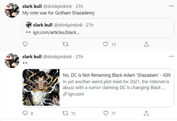 So Why Did We Think DC Comics Was Calling Black Adam Something Else?