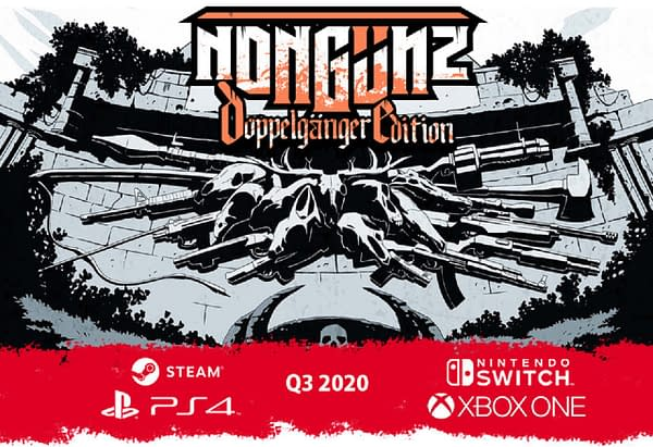 Key art for Nongunz: Doppelganger Edition, an indie action-platformer by developer Brainwash Gang and publisher Digerati.