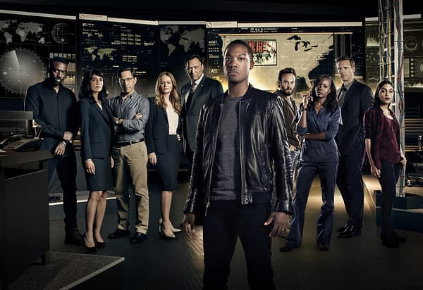 """24: Legacy: L-R: Ashley Thomas, Sheila Vand, Dan Bucatinsky, Miranda Otto, Jimmy Smits, Corey Hawkins, Charlie Hofheimer, Anna Diop, Teddy Sears and Coral Pena. 24: LEGACY begins its two-night premiere event following """"SUPERBOWL LI"""" on Sunday, Feb. 5, and will continue Monday, Feb. 6 on FOX. ©2016 Fox Broadcasting Co. Cr: Mathieu Young/FOX"""