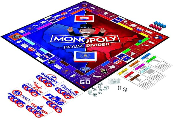 A look at the game board for Monopoly: House Divided, courtesy of Hasbro.