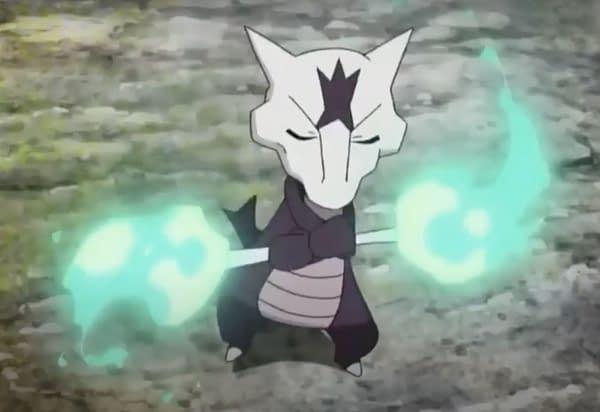 Alolan Marowak showing off a little bit. Credit: Pokémon the Series screenshot.