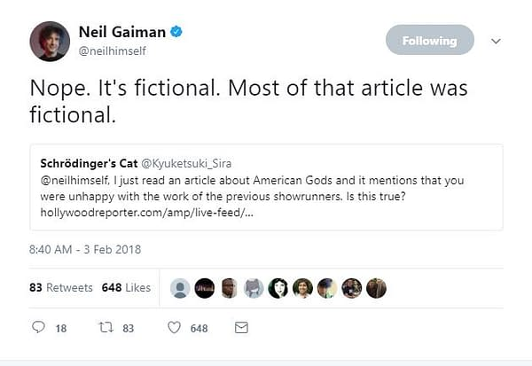 American Gods Season 2: Neil Gaiman Denies Article Allegations