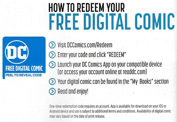 DC Comics Ditch Digital Codes in Their Comics Today?