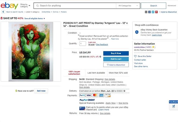 Poison Ivy Poster Sold