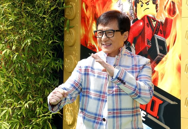Jackie Chan at the Los Angeles premiere of 'The LEGO Ninjago Movie' held at the Regency Village Theatre in Westwood, USA on September 16, 2017. Editorial credit: Tinseltown / Shutterstock.com