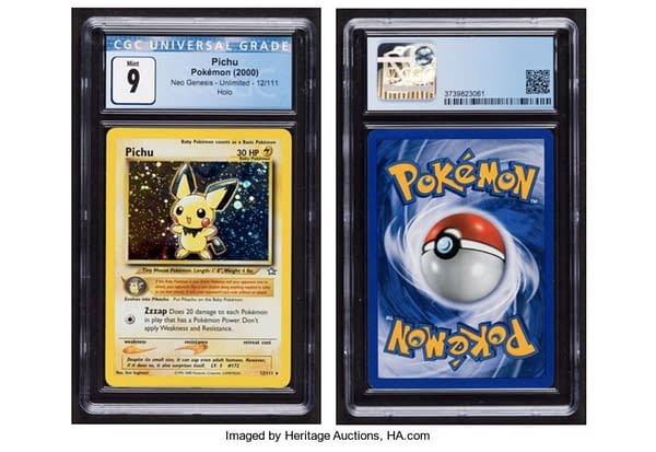 Pichu Pokémon Card from Neo Genesis. Credit: Heritage Auctions