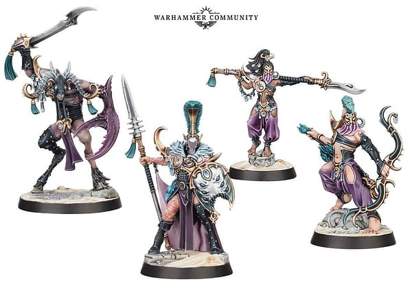 The Dread Pageant, a warband of Hedonites of Slaanesh that are one of the two featured in Games Workshop's new game, Warhammer Underworlds: Direchasm.