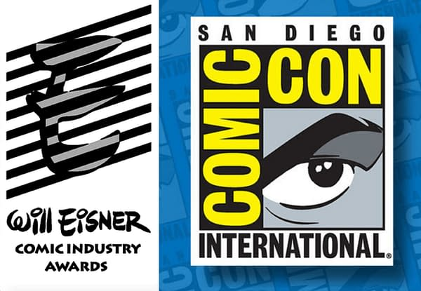 It's Eisner night! Be the first to hear who won the Eisner. Winner list revealed for 2020 Eisner Awards. Credit: Eisner Logo and SDCC logo.