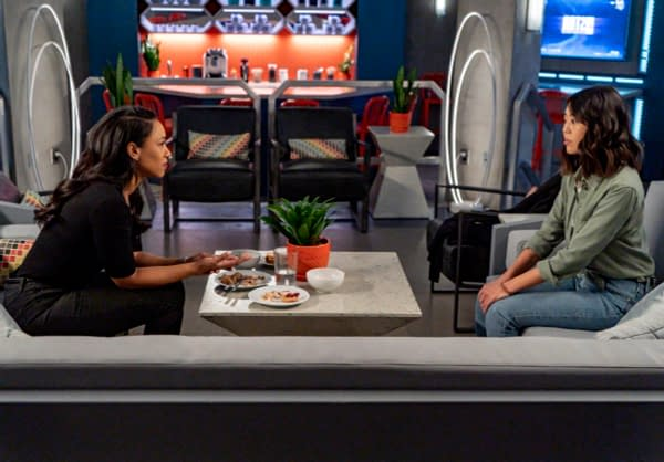 Candice Patton as Iris West - Allen and Victoria Park as Kamilla in The Flash, courtesy of The CW.