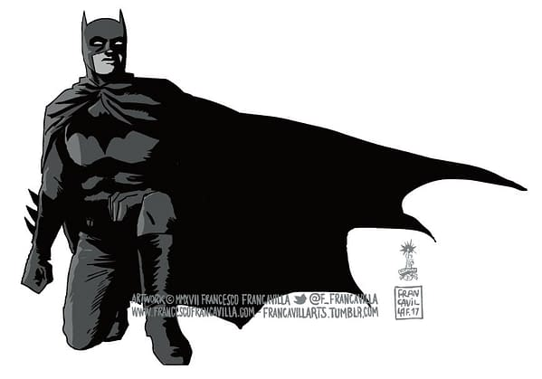Batman Joins The #TakeTheKnee Protest Thanks To Francesco Francavilla