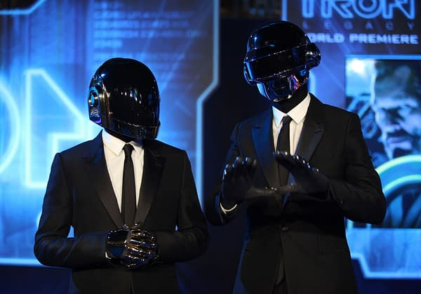 DEC 11: Daft Punk arrives to the 'Tron: Legacy' World Premiere on December 11, 2010 in Hollywood, CA. Editorial credit: DFree / Shutterstock.com
