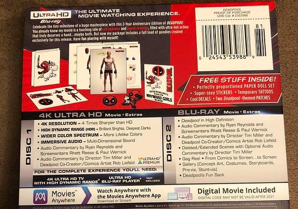 Deadpool Best Buy Exclusive Blu Ray Steelbook 2