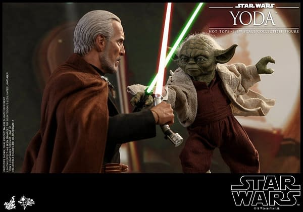 """FOR 3.75 OR 6 INCH FIGURES STAR WARS YODA 2/"""" HOLOGRAPHIC FIGURE RED"""