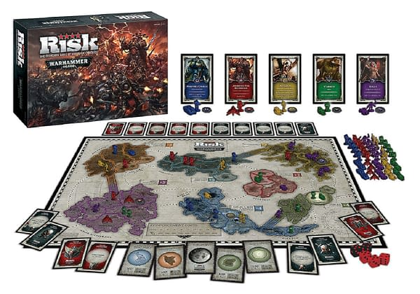 Risk: Warhammer 40,000's official board and pieces.