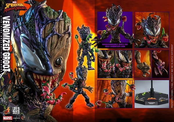 Groot Gets Venomized With New Life Size Figure from Hot Toys